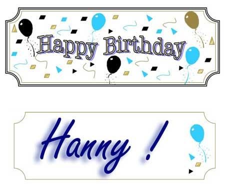 Happy Birthday Hanny