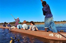Mokoro trip Okavango Delta Botswana