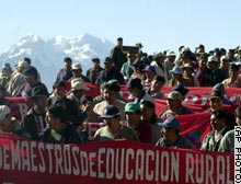 Protest in Bolivia